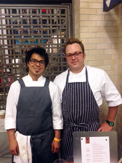 Chefs Emmanuel Eng and Scott Youkilis. photo courtesy of Maverick