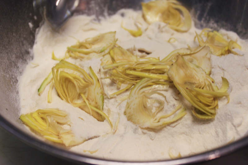Coated Artichoke Hearts