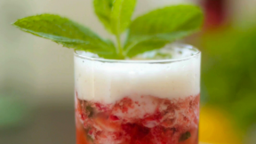 Strawberry and Mint Mojito (Made with Beer)