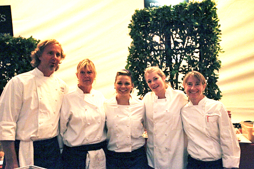 Chef Mark Dommen and Chef Emily Luchetti with other chefs at SF Chefs. Photo: Isabelle Aspera, Courtesy of SF Chefs