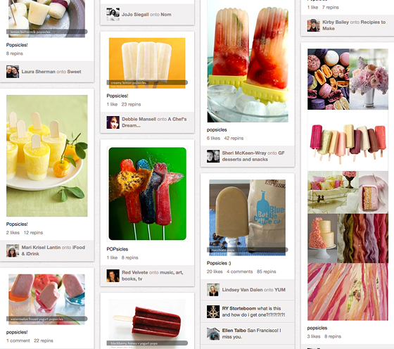 popsicles on pinterest