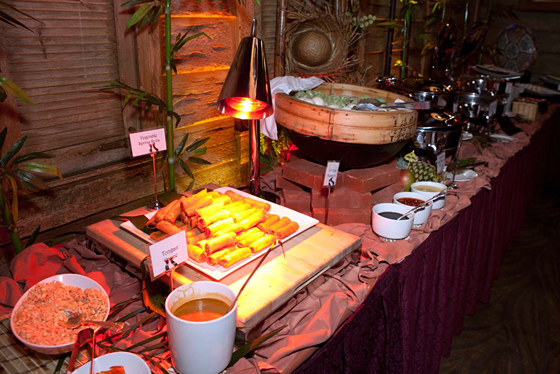 Pacific Rim buffet at the luau. Photo: Marla Aufmuth