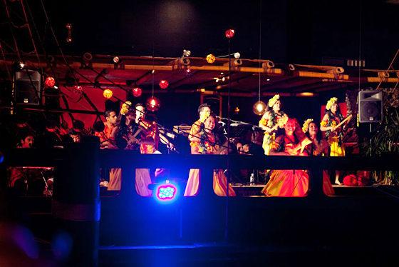 Dancers and band at the Tonga Room. Photo: Marla Aufmuth