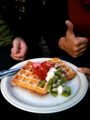 Waffles at Rouge Cafe