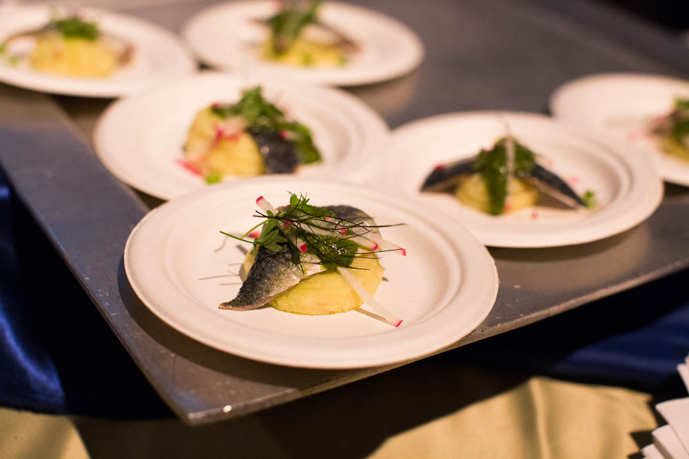SF Chefs: Cured Sardines over Potato Puree from Perbacco