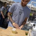 Bartender in the bar area at the SF Street Food Festival. Photo: Wendy Goodfriend