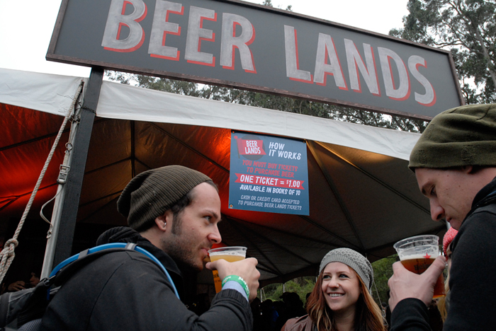 Beer Lands at Outside Lands 2012. Photo: Wendy Goodfriend