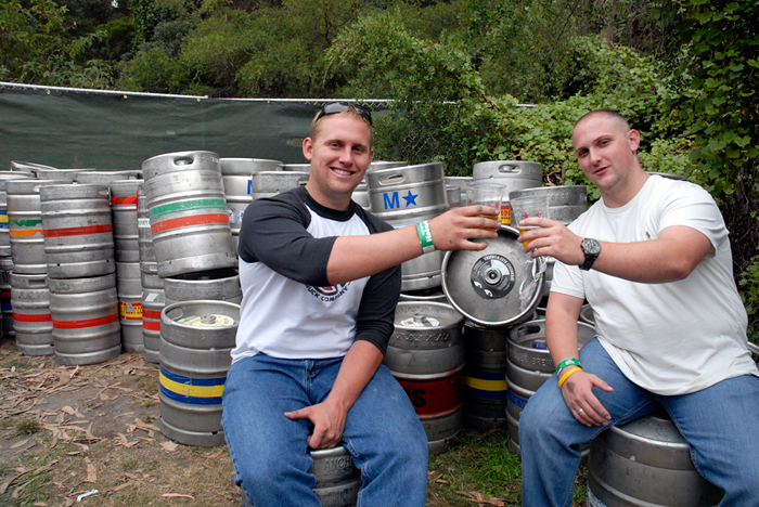 Kegs at Beer Lands. Photo: Wendy Goodfriend