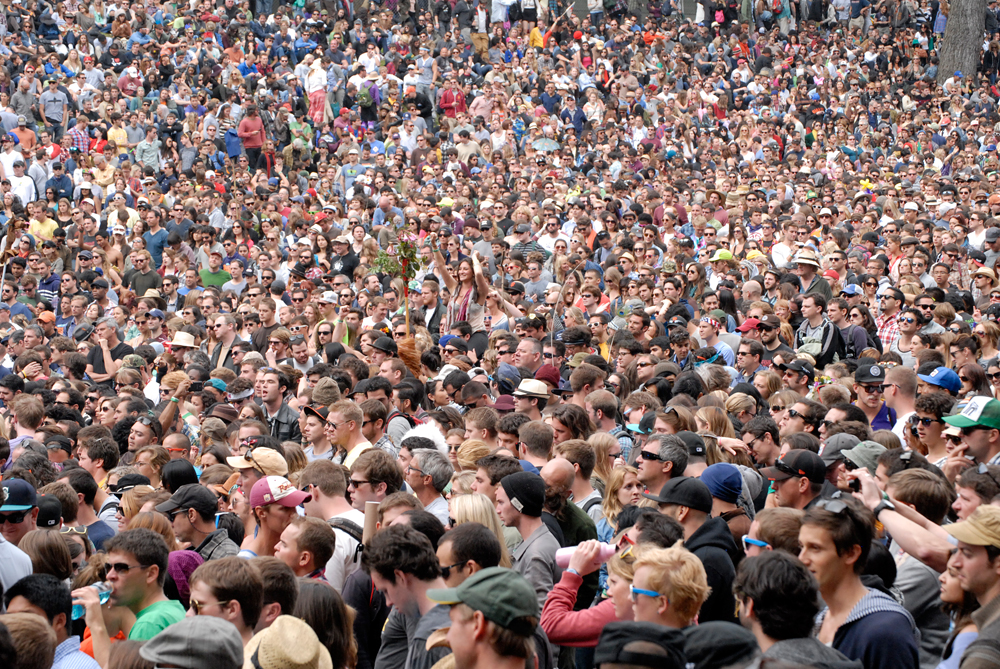 Crowd at Alabama Shakes at Outside Lands. Photo: Wendy Goodfriend