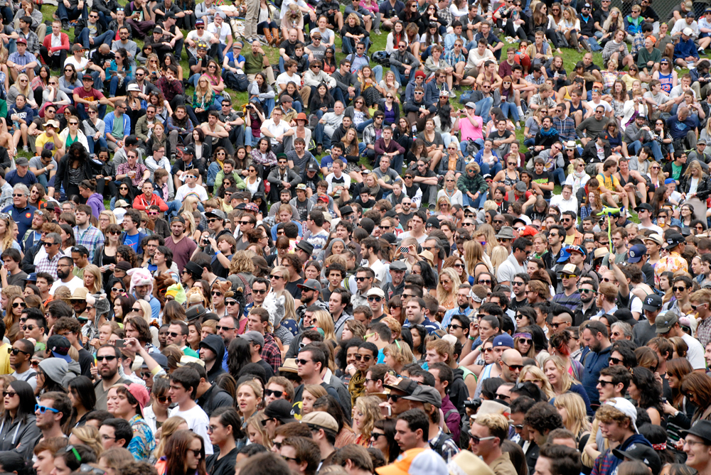 Crowd at Reggie Watts. Photo: Wendy Goodfriend