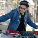 Deejay spinning in dedicated bar area. Photo: Wendy Goodfriend