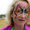 Festival goer with face painting. Photo: Wendy Goodfriend