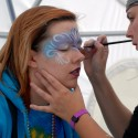 Facepainting in Intel dome. Photo: Wendy Goodfriend