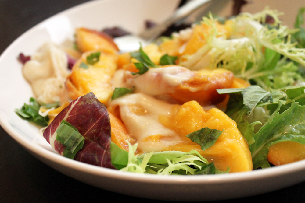Flaming Caprese Salad