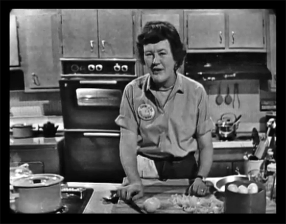 Julia Child from The French Chef making French onion soup