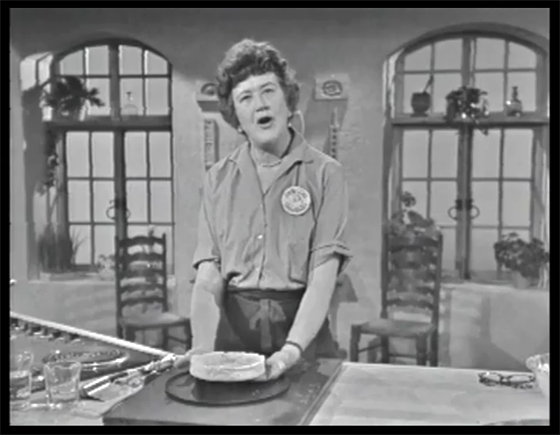 Julia Child on The French Chef making French Tarts, Apple Style