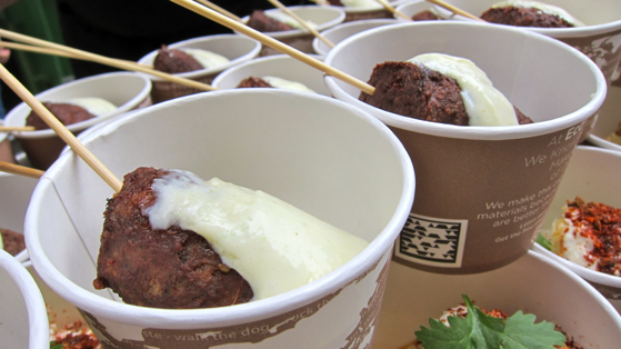 meatballs in cups