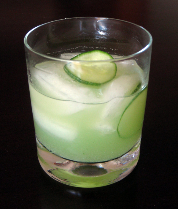 Wasabi Cucumber Gimlet. Photo: Chris Prince