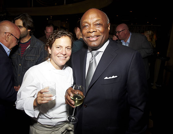 Traci des Jardins and Willie Brown