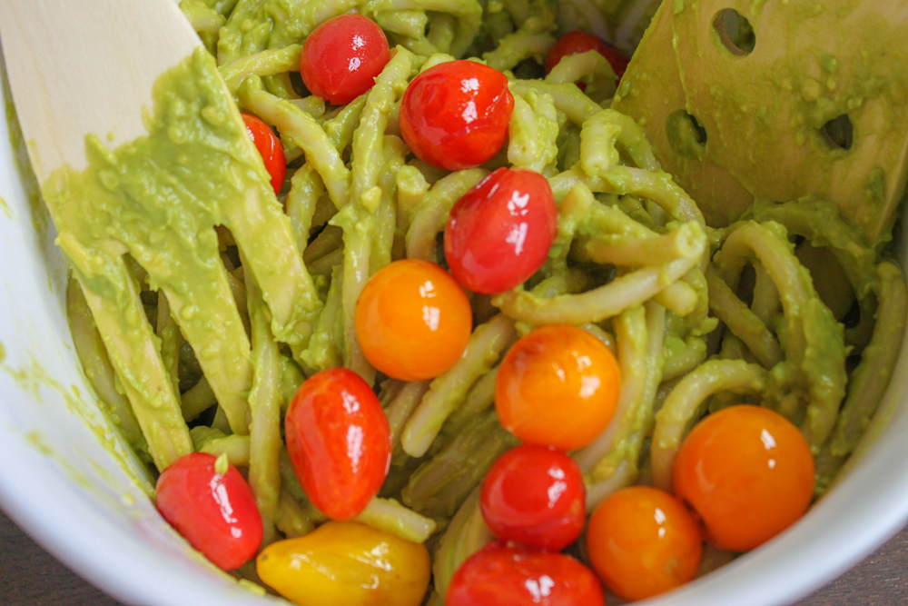 Tossing Creamy Avocado Pesto
