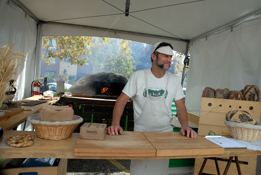 Mike the bejkr Zakowski at Eat Real Festival in Oakland. Photo: Wendy Goodfriend