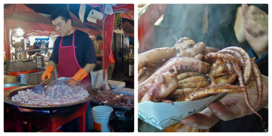 bbq squid collage