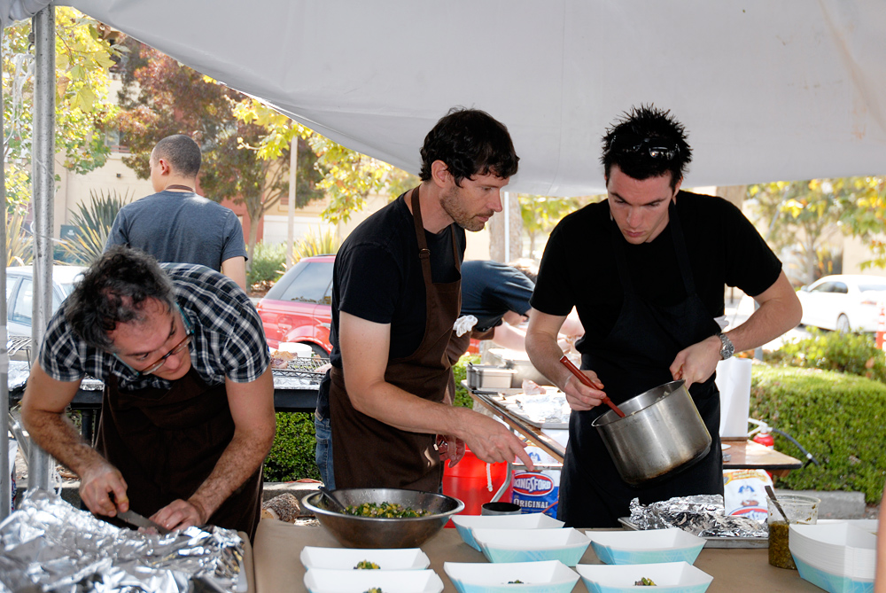 Daniel Patterson and crew at 2012 Eat Real Festival in Oakland. Photo: Wendy Goodfriend