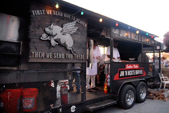 Jim N Nicks BBQ truck. Photo: Wendy Goodfriend
