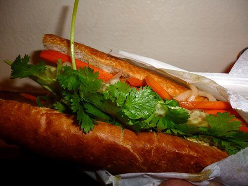 Vietnamese sandwich from Banh Mi Love You Long Time