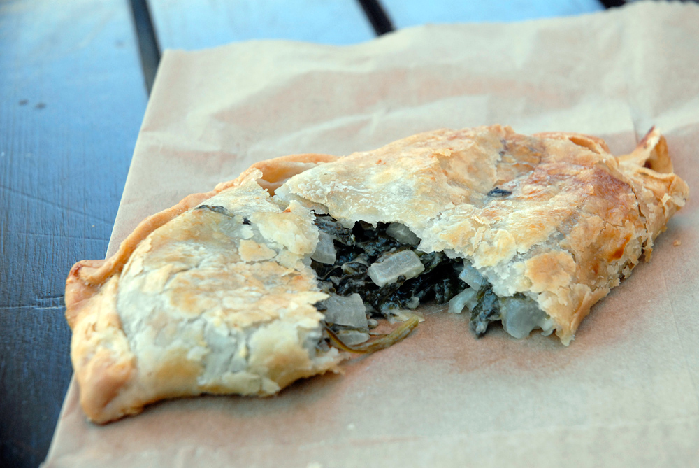 Verde - Vegetarian empanada from El Sur. Photo: Wendy Goodfriend