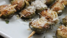 Balsamic-Roasted Brussels Sprouts with Pine Nuts and Parmesan