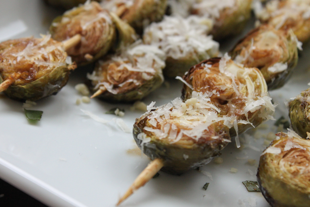 Balsamic-Roasted Brussels Sprouts with Pine Nuts and Parmesan ...