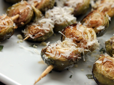 Balsamic-Roasted Brussels Sprouts with Pine Nuts and Parmesan | Bay ...
