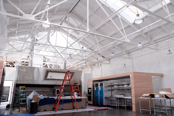 San Francisco Cooking School main demo area under construction