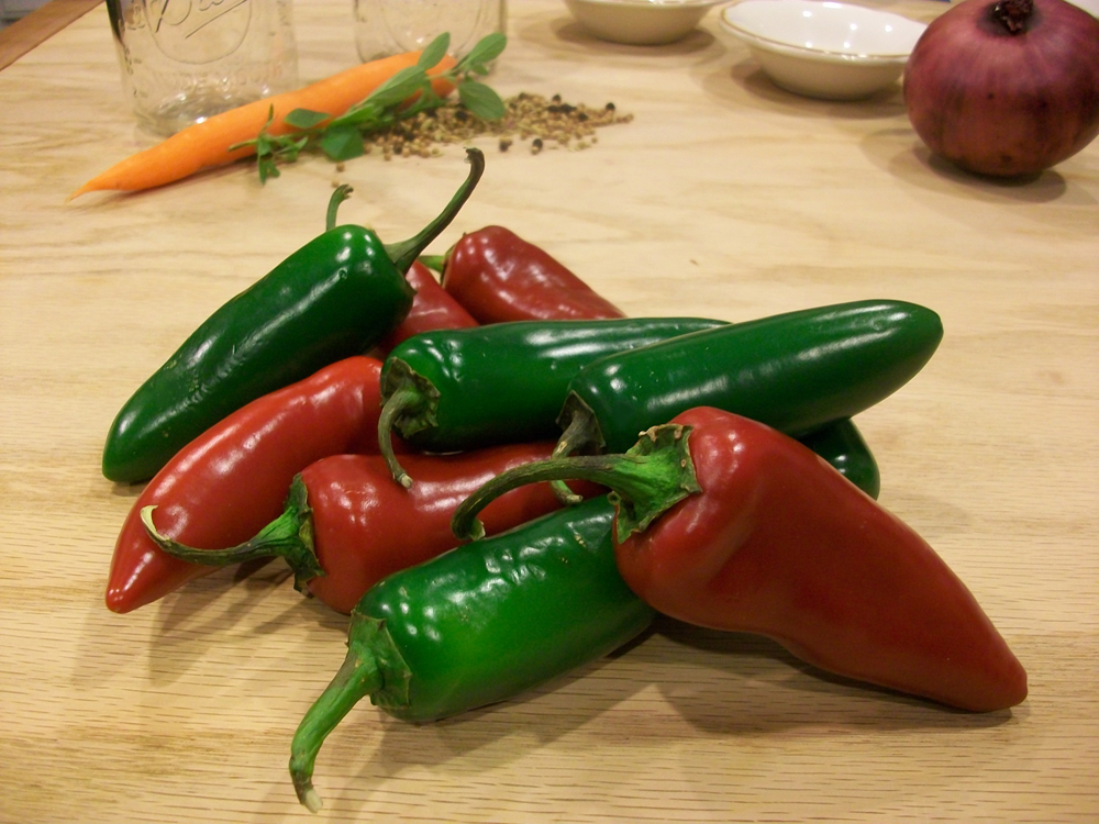 Red and green jalapenos. Photo: Joseph Wrye