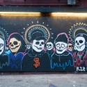 Dia de los Muertos mural in the Mission. Photo: Naomi Fiss