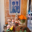 Shop window with Dia de los Muertos altar in the Mission. Photo: Naomi Fiss