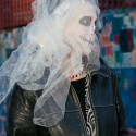Bride at  Dia de los Muertos in SF Mission. Photo: Naomi Fiss