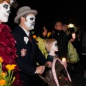 Candlelight vigil at Day of the Dead Procession. Photo: Naomi Fiss