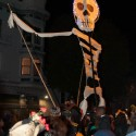 Day of the Dead skeleton in the streets of the Mission. Photo: Naomi Fiss