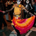 Faces of  Dia de los Muertos dancing in SF Mission. Photo: Naomi Fiss
