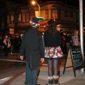 People watching the end of the Day of the Dead Procession in the Mission. Photo: Naomi Fiss