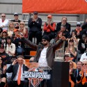 Angel Pagan speaking at SF Giants Celebration. Photo: Wendy Goodfriend