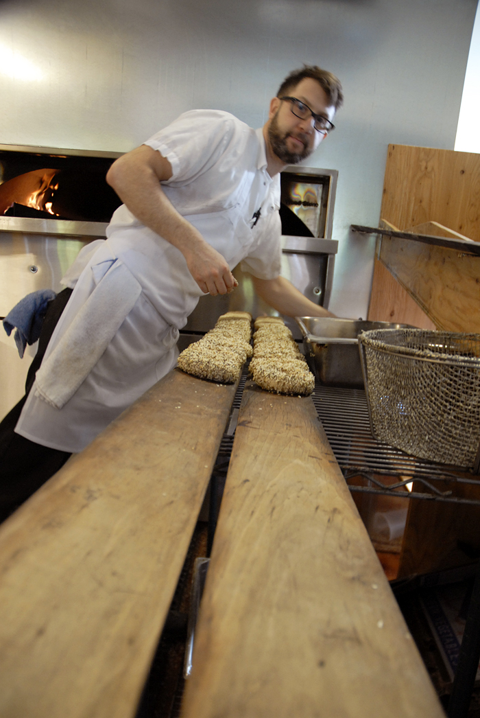 Blake Joffe bagelmaker and co-owner of Beauty's Bagels