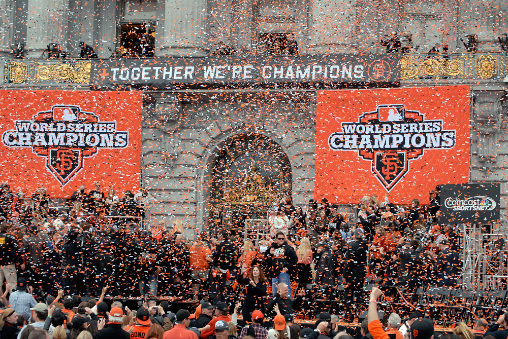 Giants Celebration: Together We're Champions. Photo: Wendy Goodfriend