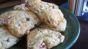 Mom's Cranberry Apricot Scones