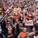 Giants fans. Photo: Wendy Goodfriend
