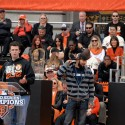 Buster Posey, Sergio Romo speak at SF Giants Celebration. Photo: Wendy Goodfriend