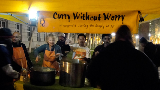 Curry Without Worry feeds approximately 250 every Tuesday night at the UN Plaza.