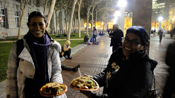 Mayek Querales (left) and Gisel Mociño (right) are college students visiting from Mexico City.